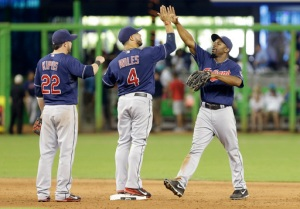 Michael Bourn, Mike Aviles, Jason Kipnis