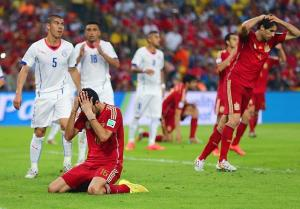 spain loses world cup