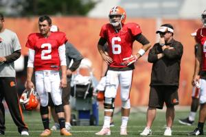 browns training camp quarterbacks