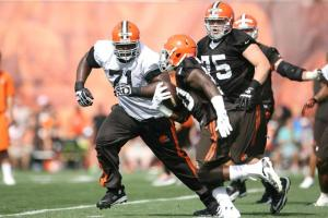 browns training camp running