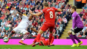 liverpool lose aston villa