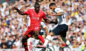 Mario Balotelli, left, made his debut on Sunday against Tottenham and made a good impression.