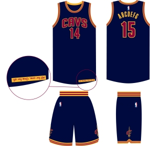 cavs navy uniform